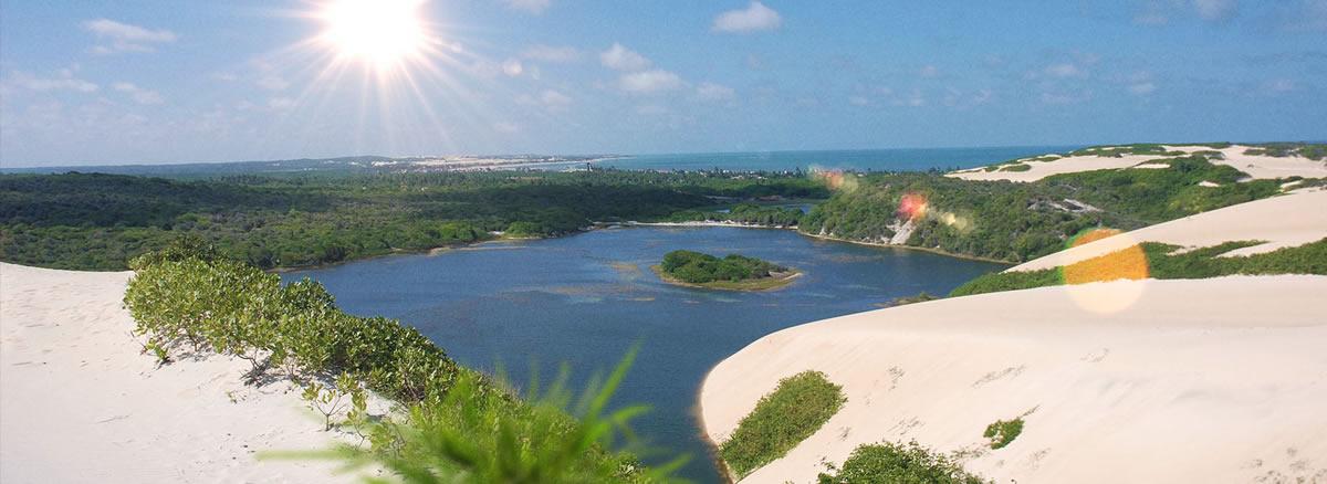 Brasil. Parque Turístico Dunas de Genipabu. Natal