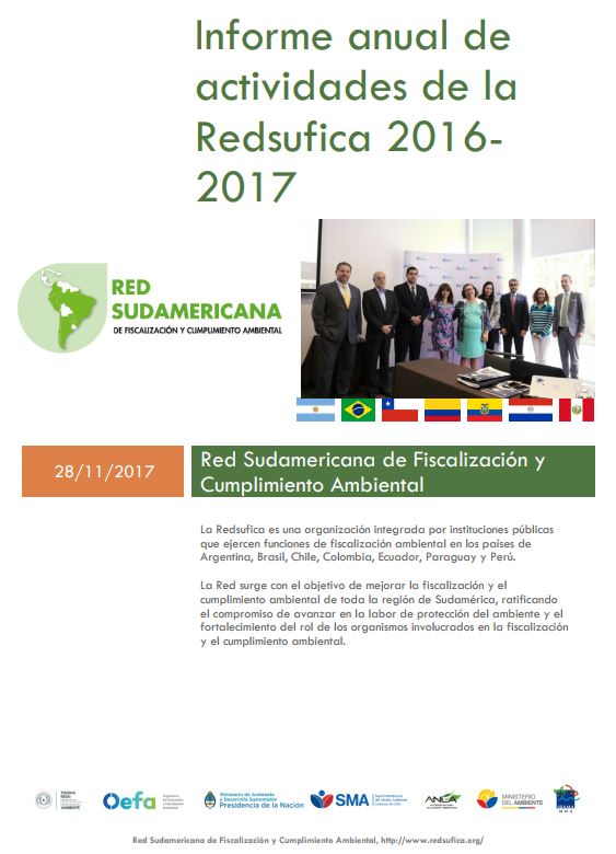 Informe anual de actividades de la Redsufica 2016 – 2017