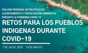 Diálogo Regional de Política sobre Licenciamiento y Cumplimiento Ambiental durante COVID-19: Retos para los Pueblos Indígenas Durante el Covid-19