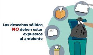 Separación de desechos para prevenir contagio