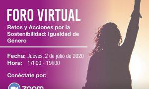 Foro Virtual #4: Retos y Acciones por la Sostenibilidad: Igualdad de Género
