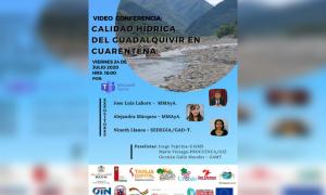 """Webinar: """"Calidad hídrica del Guadalquivir en cuarentena"""""""