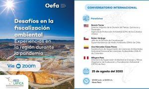Conversatorio Internacional «Desafíos en la fiscalización ambiental: Experiencias en la región durante la pandemia».