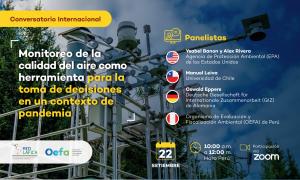 Conversatorio Internacional: «Monitoreo de la calidad del aire como herramienta para la toma de decisiones en un contexto de pandemia»