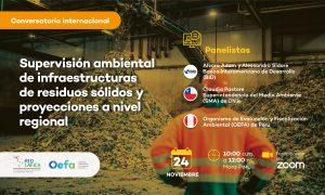 Conversatorio internacional: «Supervisión ambiental de infraestructuras de residuos sólidos y proyecciones a nivel regional»