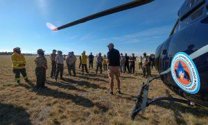 Ministerio de Ambiente de Argentina capacitó a brigadistas de incendios forestales en el manejo de medios aéreos