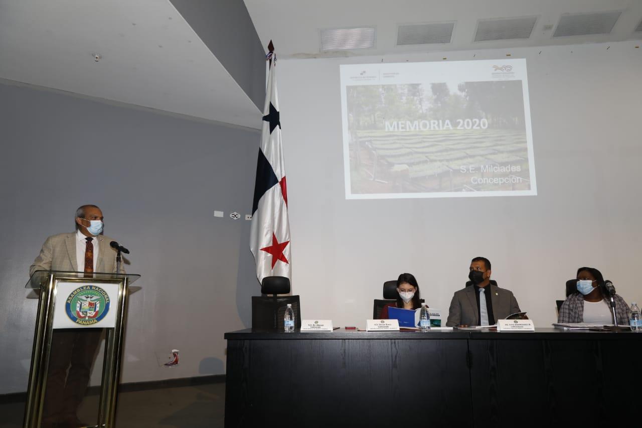 Ministerio de Ambiente sustenta logros del año 2020 y presenta proyectos para el 2021 ante Asamblea Nacional