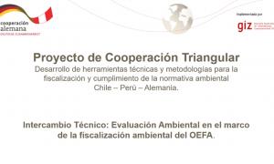 Intercambio Técnico: Evaluación Ambiental en el marco de la fiscalización ambiental del OEFA