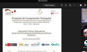 Proyecto de Cooperación Triangular Chile, Perú y Alemania: SMA y OEFA comparten experiencias sobre nueva guía para fiscalización de rellenos sanitarios
